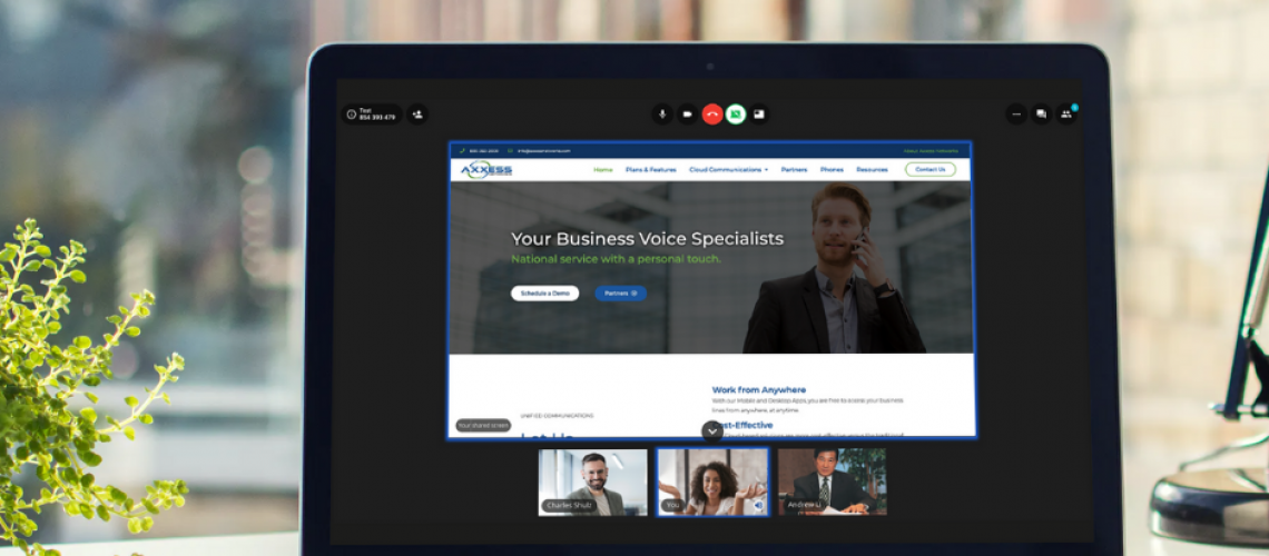 Video Conferencing (VCaaS) on laptop